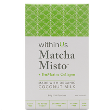 withinUs Matcha Misto + TruMarine Collagen Box 10 x 8g Pouches | 628504021200
