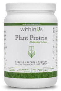 withinUs Plant Protein + TruMarine Collagen Unflavoured 597g | 628504021057