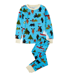Little Blue House by Hatley Kids Pajama Set Blue Book Animals | PJAWIAN054