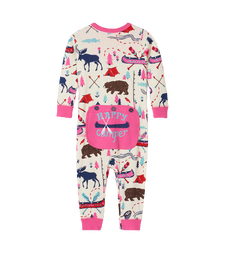 Little Blue House by Hatley Baby Union Suit Pretty Sketch Country