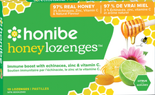 Honibe Honey Lozenges Immune Boost with Echinacea, Zinc & Vitamin C - Citrus 10 lozenges | 663448001413