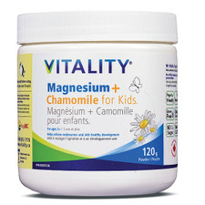 Vitality Magnesium + Chamomile Powder for Kids Ages 3+ 120g   062044123640