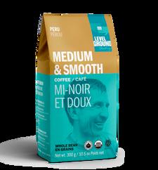 Level Ground Trading Peru Medium & Smooth Organic Whole Bean Coffee 300g | 661594322000