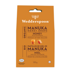 Wedderspoon Organic Manuka Honey Drops 120g  Honey | 814422022881