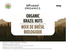 Left Coast Organics Organic Brazil Nuts 200g | 625691210295