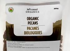 Left Coast Organics Organic Pecans - Raw 200g | 625691210318