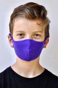 Brave Face Skeena Organic Reusable Face Mask for Kids - True Purple | 705333599411