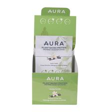 Aura Plant Based Protein Powder Vanilla Individual Sachets - Box of 10 x 36g | 627987020168