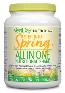VegiDay Step Into Spring All in One Nutritional Shake 500g | 628235330480