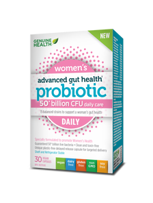 Genuine Health Advanced Gut Health Probiotic Women's Daily 50 Billion CFU 30 Vegan Capsules | 624777008757