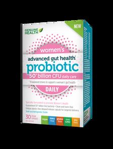 Genuine Health Advanced Gut Health Probiotic Women's Daily 50 Billion CFU 30 Vegan Capsules   624777008757