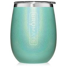 BrüMate Uncork'D XL Wine Tumbler 14oz - Glitter Aqua | 748613306637
