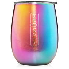 BrüMate Uncork'D XL Wine Tumbler 14oz - Rainbow Titanium | 748613301847