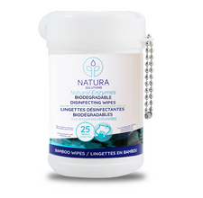 Natura Solutions Biodegradable Disinfecting Wipes 25 Wipes | 628250612127