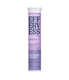 Organika Effervess Marine Collagen and Vitamin C Effervescent - Lavender Single Pack (14 Tablets)