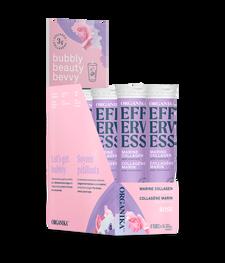 Organika Effervess Marine Collagen and Vitamin C Effervescent - Rose Box Pack (8 Tubes)   620365029906