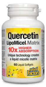 Natural Factors Quercetin LipoMicel Matrix 250 mg 60 Softgels | UPC: 068958013787
