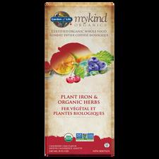 Garden of Life mykind Organics Plant Iron & Organic Herbs - Cranberry Lime Flavour 240mL | 886866000992