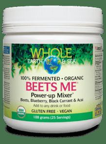 Natural Factors Whole Earth & Sea Beets Me Power-Up Mixer 188g   068958355528
