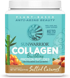 Sunwarrior Plant-Based Collagen Building Protein Peptides with Hyaluronic Acid and Biotin - Salted Caramel 500g   814784027852, 814784027791