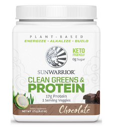 Sunwarrior Plant-Based Clean Greens & Protein 175g - Chocolate | 814784027616