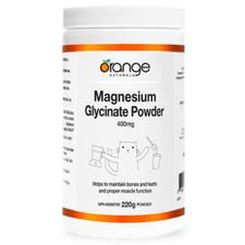 Orange Naturals Magnesium Glycinate 400mg Powder 220g   UPC: 886646061076