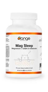 Orange Naturals Mag Sleep Magnesium with GABA and Melatonin 90 Capsules | UPC: 886646010852