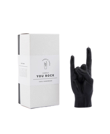 CandleHand You Rock Hand Gesture Candle - Black   4779040570199