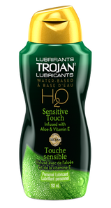 Trojan Lubricants Water-Based H2O Sensitive Touch Infused with Aloe & Vitamin E Personal Lubricant 163mL   061700912673