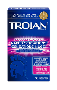 Trojan Naked Sensations Double Pleasure Lubricated Latex Condoms 10 Count   061700972653
