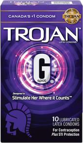 Trojan G. Spot Lubricated Latex Condoms 10 Count   061700991821