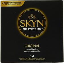 LifeStyles SKYN Original Natural Latex Free Lubricated Condoms 24 Count | 070907073247