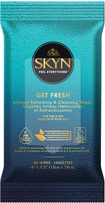 LifeStyles SKYN Get Fresh Intimate Refreshing & Cleansing Wipes 30 Wipes | 070907000458