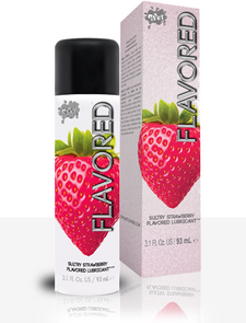 Wet Flavoured Sultry Strawberry Flavoured Lubricant 93mL | 716222264044