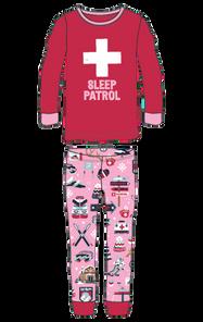 Little Blue House by Hatley Kids Appliqué Pajama Set - Pink Ski Holiday   PJCSKIS011