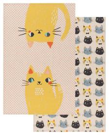 Now Designs Meow Meow Dishtowels Set of 2 | 064180273661
