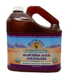 Lily of the Desert Preservative Free Aloe Vera Juice - Inner Fillet 134oz / 3.8L | 026395831289