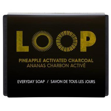 LOOP Everyday Soap Bar - Pineapple Activated Charcoal 100g | 629283001278
