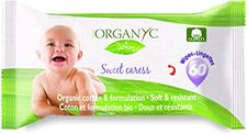Organ(y)c 100% Organic Cotton Baby Wipes Sweet Caress - 60 Count | 8016867009997