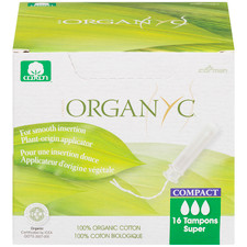 Organ(y)c 100% Organic Cotton Tampons with BIO-Based Compact Applicator - Super 16 Count | 8016867007382