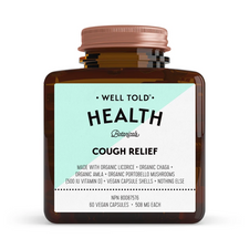 Well Told Health Cough Relief 508mg 60 Vegan Capsules | 628110105219