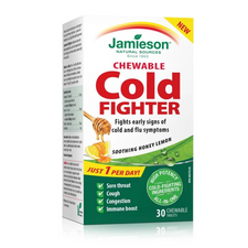 Jamieson Chewable Cold Fighter Tablets | UPC 064642090058, 064642091321