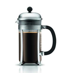 Bodum Chambord French Press Coffee Maker - Matte Chrome 8-Cup, 1.0L, 34oz | 727015123653