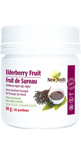 New Roots Herbal Elderberry Fruit - Whole Dried Berries 50g   628747025447