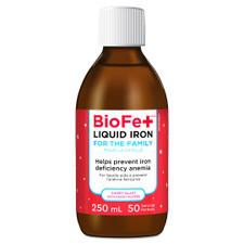 KidStar Nutrients BioFe+ Iron Liquid For The Family - Sweet Blast 250mL   855938001168