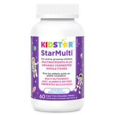 KidStar Nutrients StarMulti Multinutrients Plus Organic Fermented Whole Foods - Space Berry 60 Chewable Tablets   371316000016
