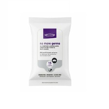 Relaxus No More Germs Anti-Bacterial Cleansing Wipes - 15 Wipes | UPC 628949052654