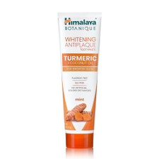 Himalaya Botanique Whitening Antiplaque Toothpaste Turmeric + Coconut Oil Mint 113g   605069067003