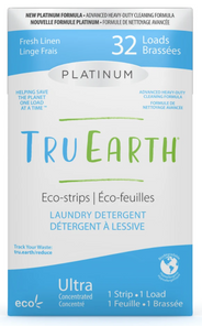Tru Earth Platinum Eco-Strips Laundry Detergent - Fresh Linen 32 Loads   899962000636