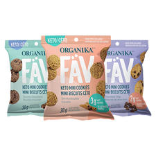 Organika FAV Keto Mini Cookies - Assorted Flavours